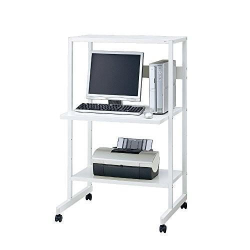 プラス パソコンラック PC-FY1207 ホワイト 16435 16435