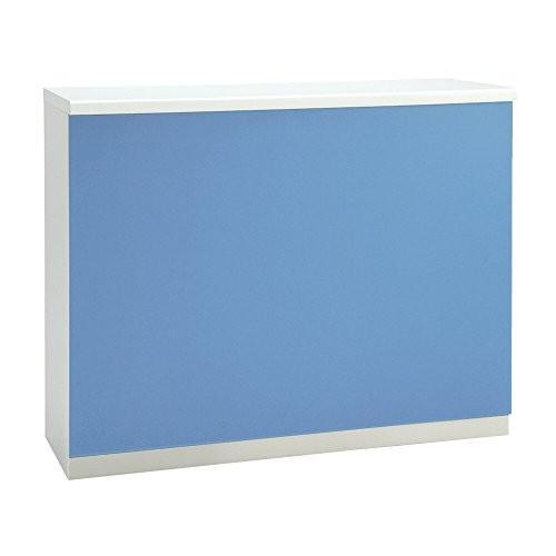 プラス DKシリーズ ハイカウンター 棚付オープンタイプ DK-12HN ライトブルー ホワイト