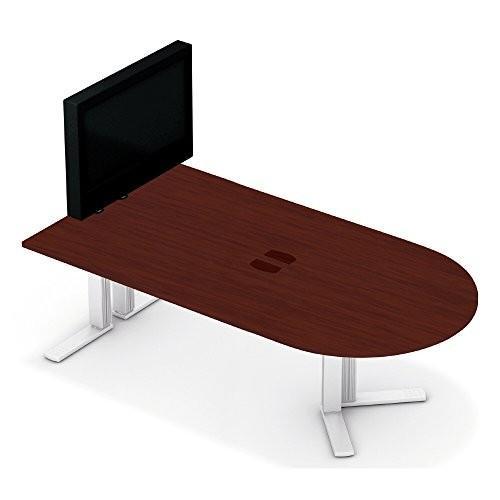 プラス XF TYPE-L テレビスタンド付ミーティングテーブル XL-2412MT マホガニー マホガニー シルバー 610538