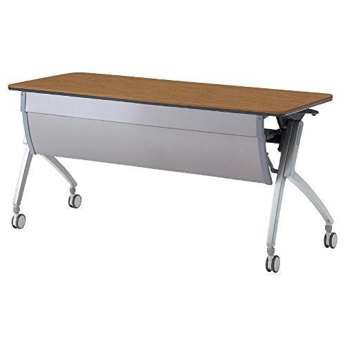 プラス フォールディングテーブル フォールディングテーブル LUARCO アール天板 XT-520M ミディアムウッド 606400