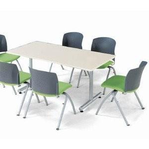 アイコ 会議用テーブル ミーティングデスク T脚 1275K角型 低価格 幅1200×奥行き750MM ライトグレーLGR
