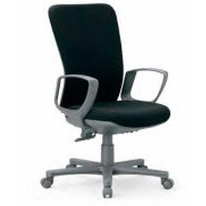 アイコ 事務椅子 ハイバック サークル肘付きタイプ オフィスチェア OA-1355DJ OA-1355DJ 座W505 H970 FG3黒BK