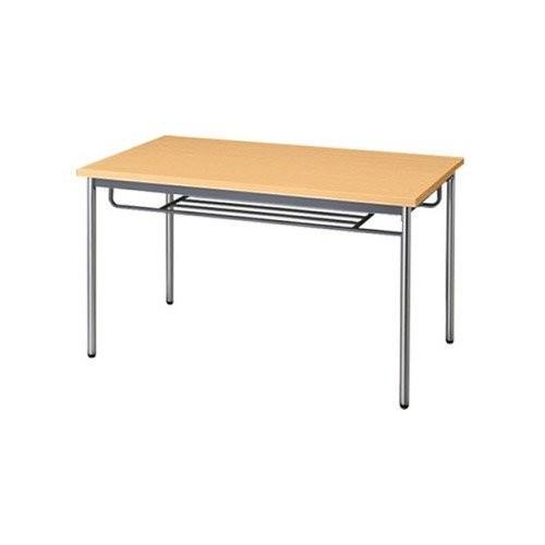 生興 テーブル MTS型会議用テーブル W1200×D600×H700 4本脚タイプ 棚なし MTS-1260OT ペールアルダー