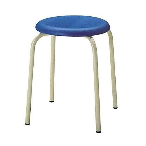 生興 ミーティングチェアー パイプチェアー 丸椅子 丸椅子 丸椅子 スタッキング 紛体塗装脚 R-303 ブルー b7b