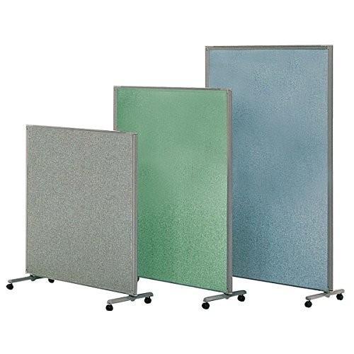 生興 フレキシブルパネルスクリーン フレキシブルパネルスクリーン H1500×W1200 単体キャスター付 全面布張りパネル TP-F1512 グリーン