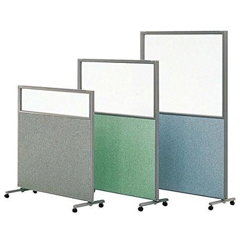 生興 フレキシブルパネルスクリーン H1500×W900+1200+900 3連キャスター付 上部窓付きパネル TP-G3530 ブルー