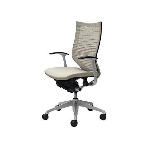 オカムラ オフィスチェア オフィスチェア バロン ハイバック グラデーションサポートメッシュ 固定肘 ホワイト CP45DR-FGR2