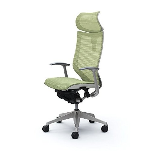 オカムラ オフィスチェア オフィスチェア バロン 可動ヘッドレスト 固定肘 ピスタチオ CP41CW-FEH6