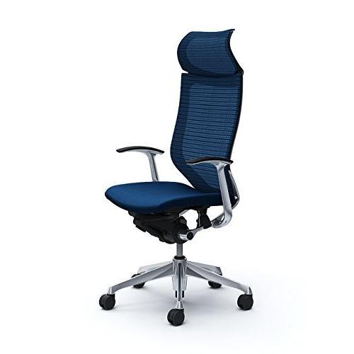 オカムラ オカムラ オフィスチェア バロン 固定ヘッドレスト 固定肘 ミディアムブルー CP47BR-FEF4