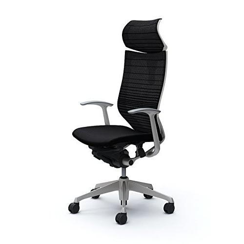 オカムラ オカムラ デスクチェア オフィスチェア バロン 可動ヘッドレスト グラデーションサポートメッシュ 固定肘 ブラック CP41DW-F