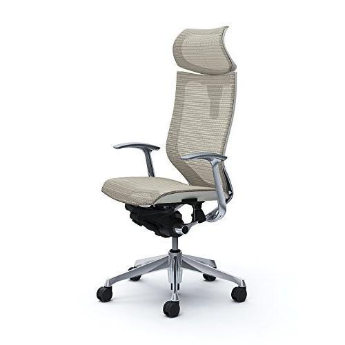 オカムラ オフィスチェア オフィスチェア バロン 可動ヘッドレスト 固定肘 ホワイト CP41AW-FEH3