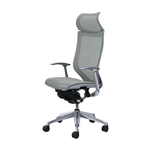 オカムラ オフィスチェア オフィスチェア バロン 固定ヘッドレスト 固定肘 ライトグレー CP47AW-FDH3
