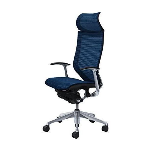オカムラ オフィスチェア オフィスチェア バロン 固定ヘッドレスト 固定肘 ミディアムブルー CP47AR-FEH4