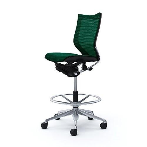 オカムラ オフィスチェア オフィスチェア バロン ローバック ハイポジションチェア 肘なし ダークグリーン CP38AR-FEH5