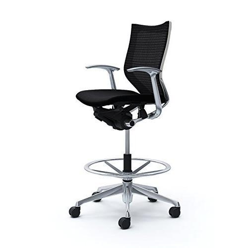 オカムラ オフィスチェア オフィスチェア バロン ローバック ハイポジションチェア 固定肘 ブラック CP58BW-FDF1