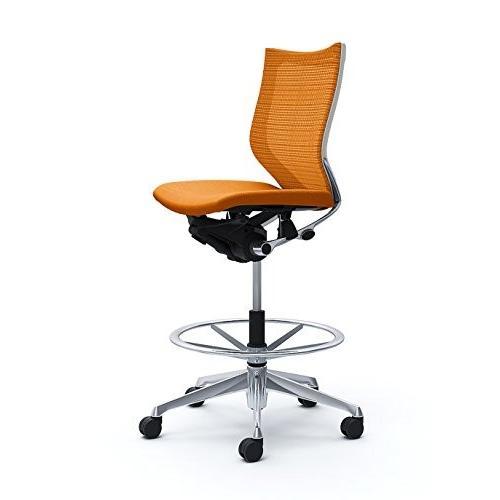 オカムラ オフィスチェア オフィスチェア バロン ローバック ハイポジションチェア 肘なし オレンジ CP38BW-FDF8