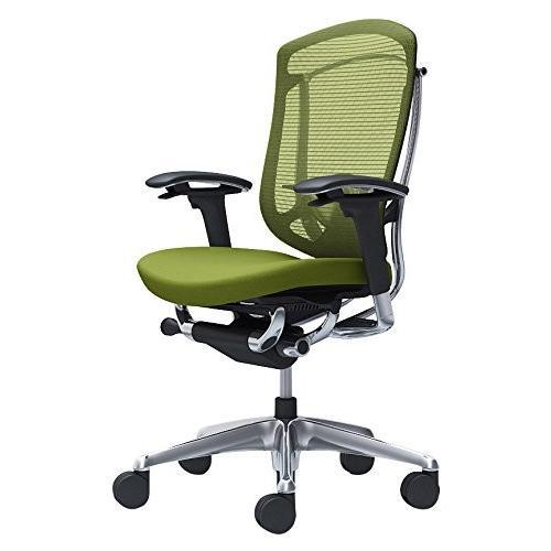 オカムラ オフィスチェア コンテッサ セコンダ 可動肘 ハイバック 座 クッション グリーン CC83BS-FPC5