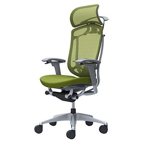オカムラ オフィスチェア コンテッサ セコンダ セコンダ 可動肘 エクストラハイバック 座 クッション グリーン CC88GE-FPC5