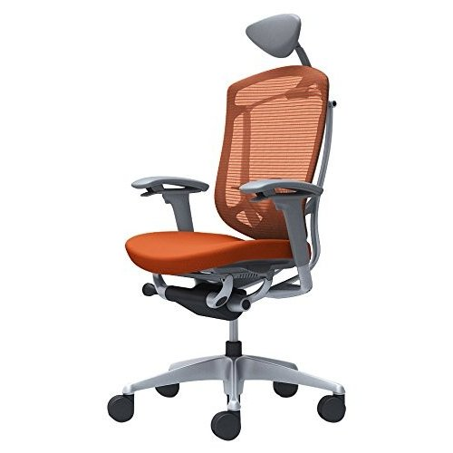 オカムラ オフィスチェア コンテッサ セコンダ 可動肘デスクチェア エクストラハイバック 座 クッション オレンジレッド CC8CGE-