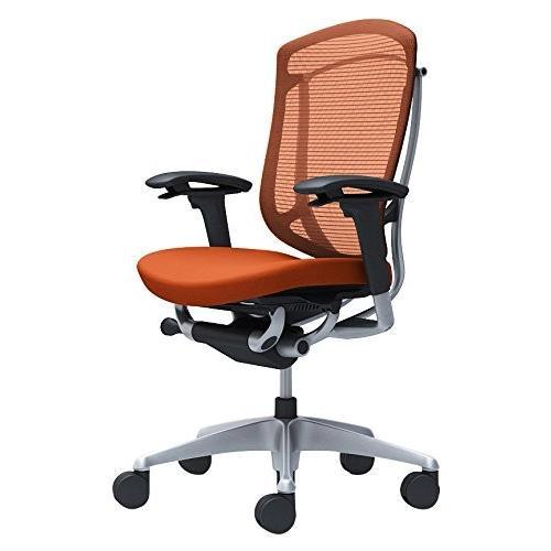 オカムラ オフィスチェア コンテッサ セコンダ 可動肘 ハイバック 座 クッション オレンジレッド CC83GR-FPD8