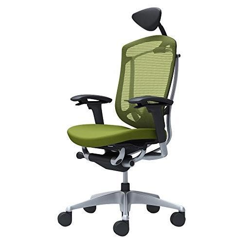 オカムラ オフィスチェア コンテッサ セコンダ 可動肘デスクチェア エクストラハイバック 座 クッション グリーン CC8CGS-FPC5
