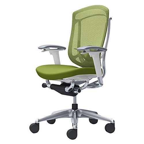 オカムラ オフィスチェア コンテッサ セコンダ 可動肘 ハイバック 座 クッション グリーン CC83BZ-FPC5