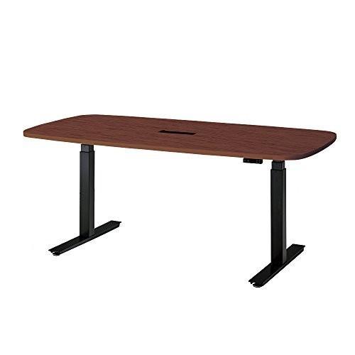 プラス 上下昇降テーブル 上下昇降テーブル WORK MOVE ワークムーブ テーブル 天板マホガニー 脚ブラック 679746