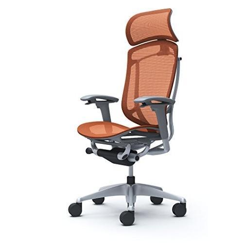 オカムラ オフィスチェア コンテッサ セコンダ 可動肘 エクストラハイバック 座 メッシュ オレンジレッド CC85GA-FPH8