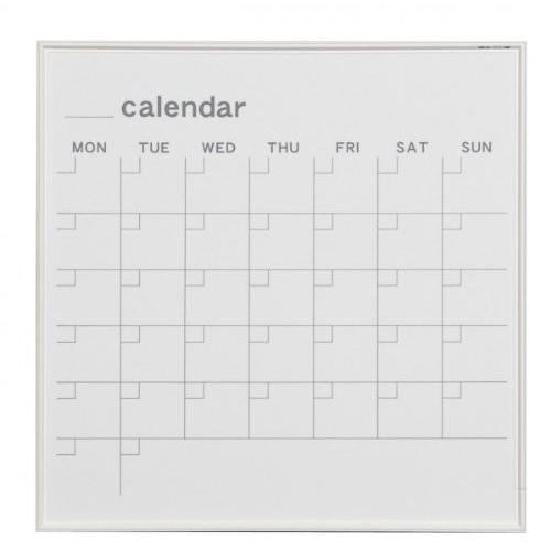 馬印   MR SERIES エムアールシリーズ 壁掛 予定表 カレンダー ホワイトボード W610×H610MM MR22W 文具・玩具 文|offic-one
