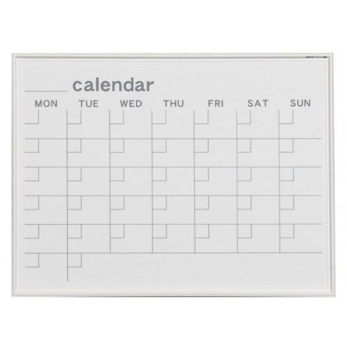 馬印   MR SERIES エムアールシリーズ 壁掛 予定表 カレンダー ホワイトボード W610×H460MM MR2W 文具・玩具 文具|offic-one