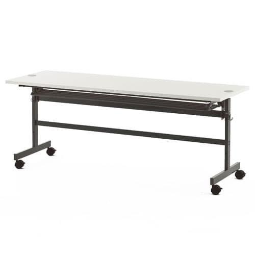 アールエフヤマカワ R・Fヤマカワ 配線機能付きフォールディングテーブル2 W1800×D450×H700MM SHFTL-1845 ホワイト