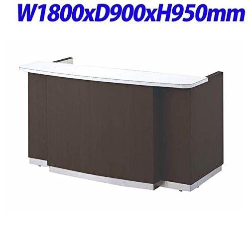 生興   CIGシリーズ インフォメーションカウンター 有人タイプ ダークブラウン W1800×D900×H950MM CIG-180D|offic-one