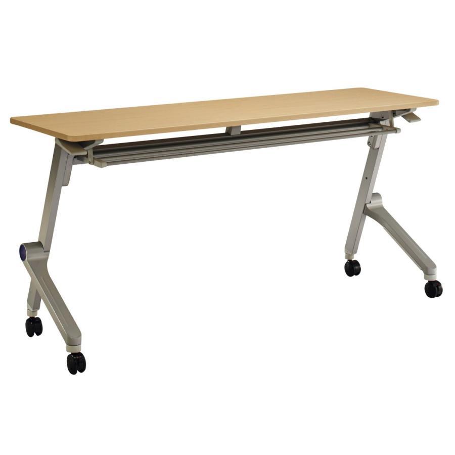 ライオン事務器 品番42115 品番42115 テーブル QL-1545R-N 天板:ナチュラル/本体:シルバー