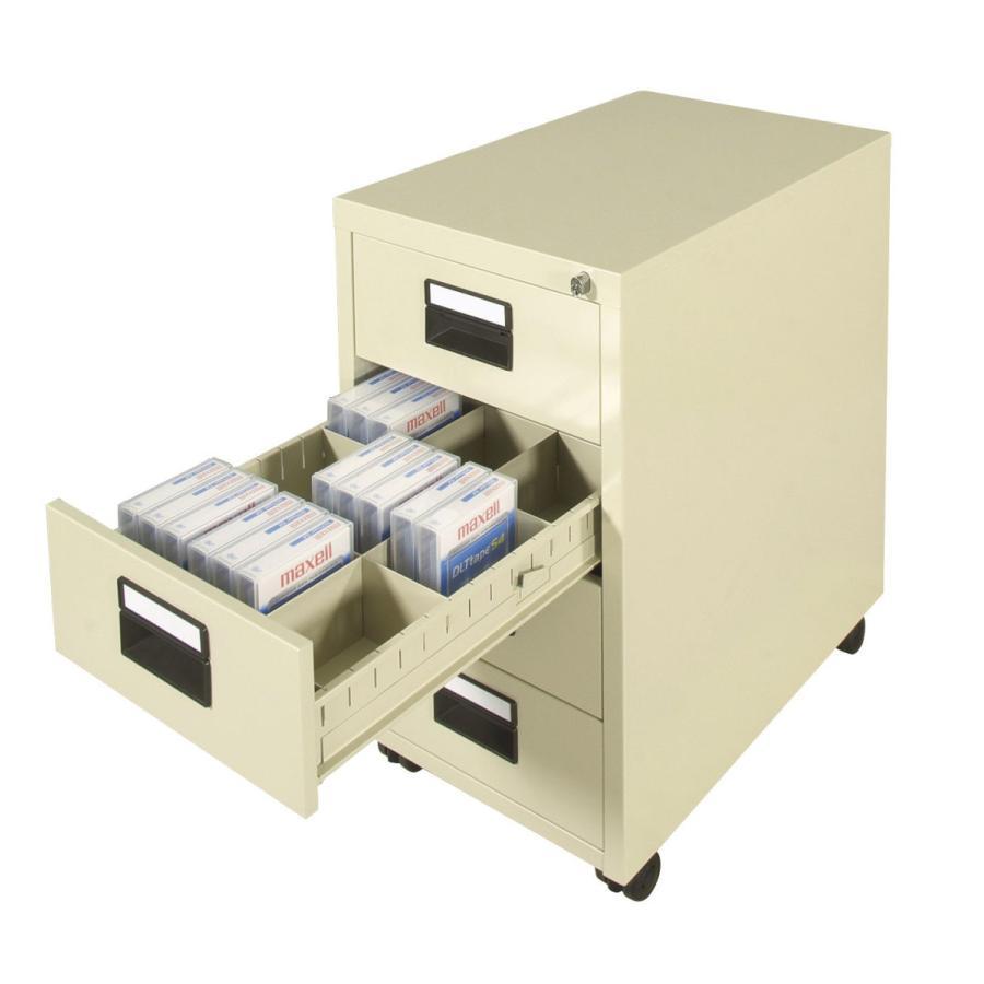 ライオン事務器 品番77532 テープカートリッジ(LTO)キャビネット(キャスター付) DL-108