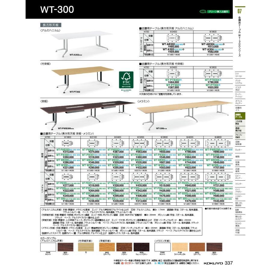 コクヨ品番 WT-PB303PAW 会議テーブル 300シリーズ 角形