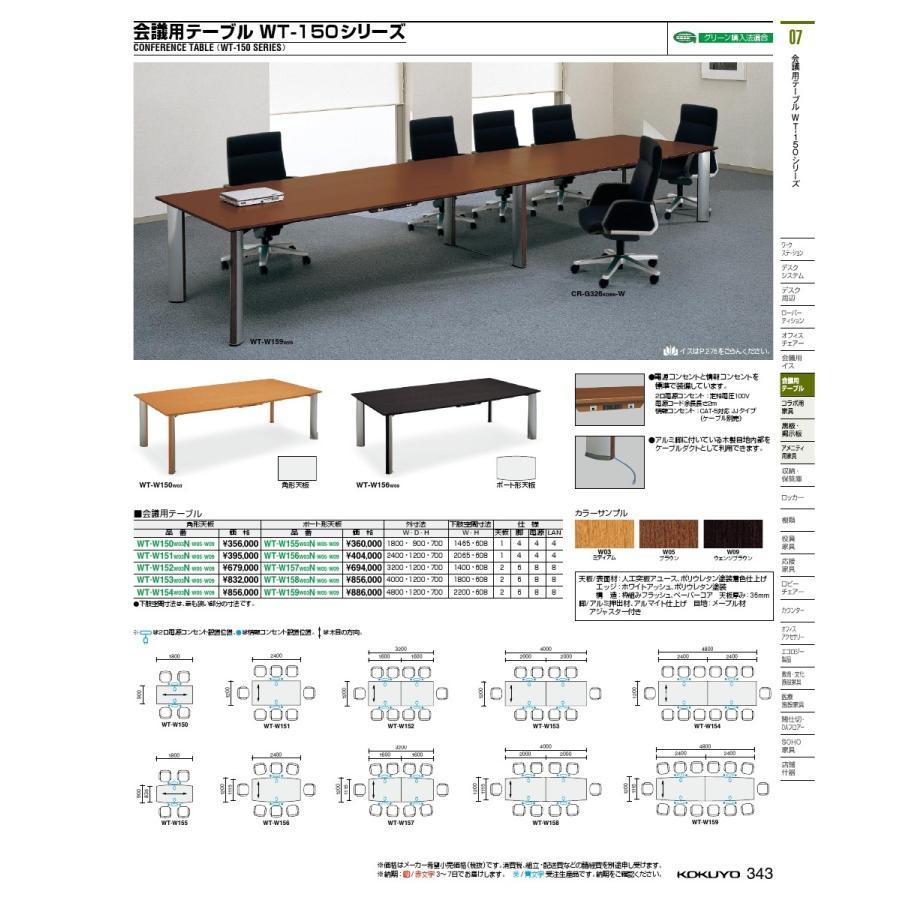 コクヨ品番 WT-W152W09 WT-W152W09 会議テーブル 150シリーズ 角形