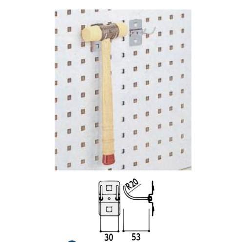 ラインテーブル オプション フック 突出し5.3cm 幅3.0cm 10個セット 耐荷重1.0kg 送料別途商品