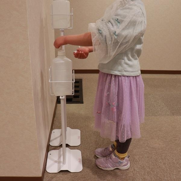 高さ56cm サビにくい アルコール消毒液 ポンプスタンド 子ども用 ポンプ台 アルコールスタンド 台 感染症対策 office-kaguya 05