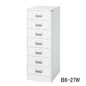 ファイリングキャビネット B6サイズ B6・7段・2列型・ホワイト B6・7段・2列型・ホワイト W485×D620×H1335ミリ B6-27W