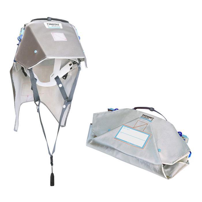 たためるヘルメット タタメット ズキン 2 ヘルメット+防災頭巾 お得な20人用セット SOHO向け オフィスに常備