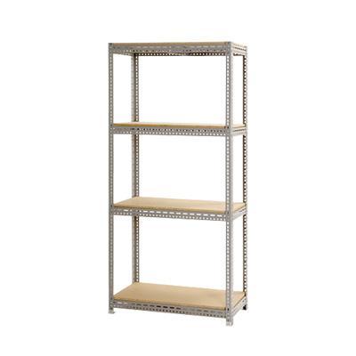 スチールボード棚 収納棚 4段 4段 幅1200×奥行750×高さ1800mm