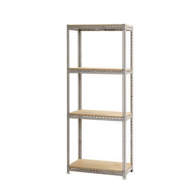 スチールボード棚 収納棚 4段 幅1800×奥行600×高さ2400mm