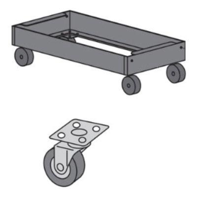中量用 キャリアーゴム車 380K 幅1200×奥行450用/1台セット