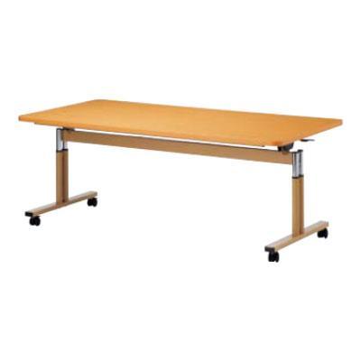 天板跳ね上げ式テーブル ラチェット昇降式 ABS樹脂エッジ巻 幅900×奥行900mm 幅900×奥行900mm FIT-0909EB