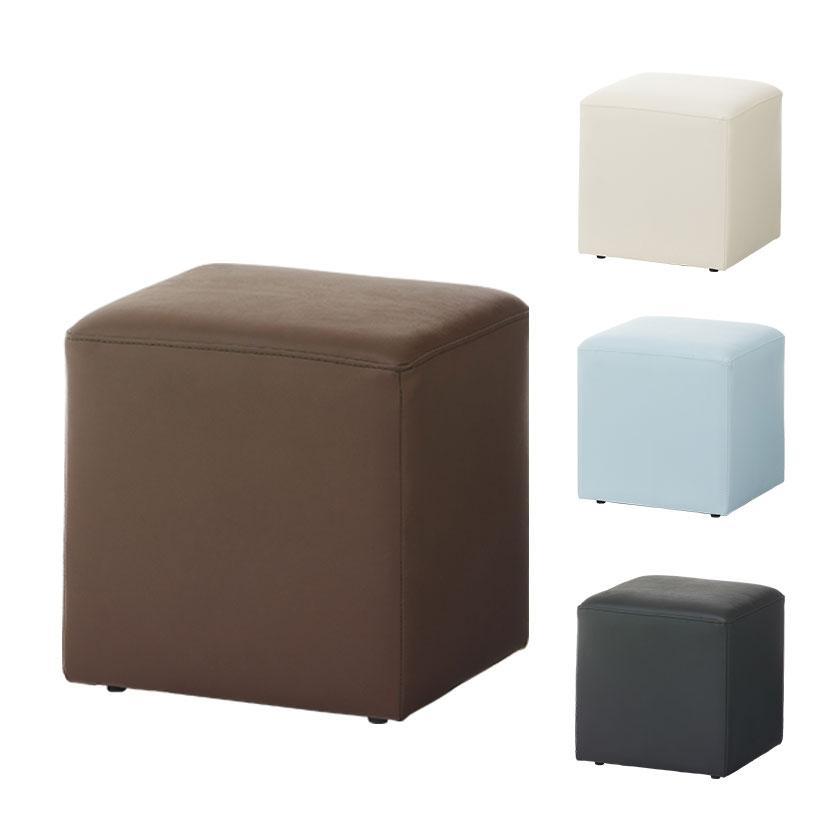 超安い 法人様限定 キューブスツール ロビーチェア 人気ショップが最安値挑戦 アジャスター付き 幅400×奥行400×高さ400mm PVCレザー