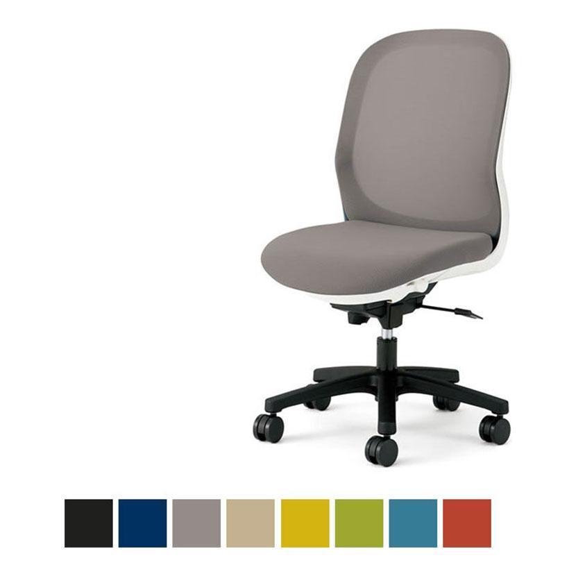 オフィスチェアー オフィスチェアー PLUS(プラス) Fitaチェアー(フィータ) ホワイトフレーム 肘なし 体重感知・シートスライドロッキング固定 コンパクト設計 PL-KC-FT50ML