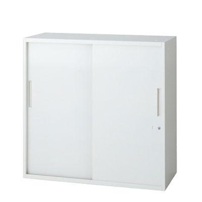 L6 引違い保管庫 L6-90S L6-90S W4 ホワイト 幅900×奥行450×高さ890mm