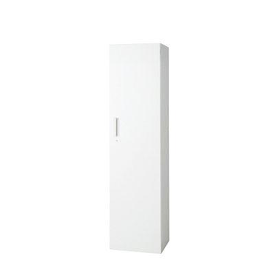 L6 L6 片開き保管庫 L6-E180AC W4 ホワイト 幅400×奥行450×高さ1770mm