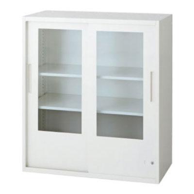 L6 L6 引違いガラス保管庫 L6-G90G 幅800×奥行400×高さ890mm
