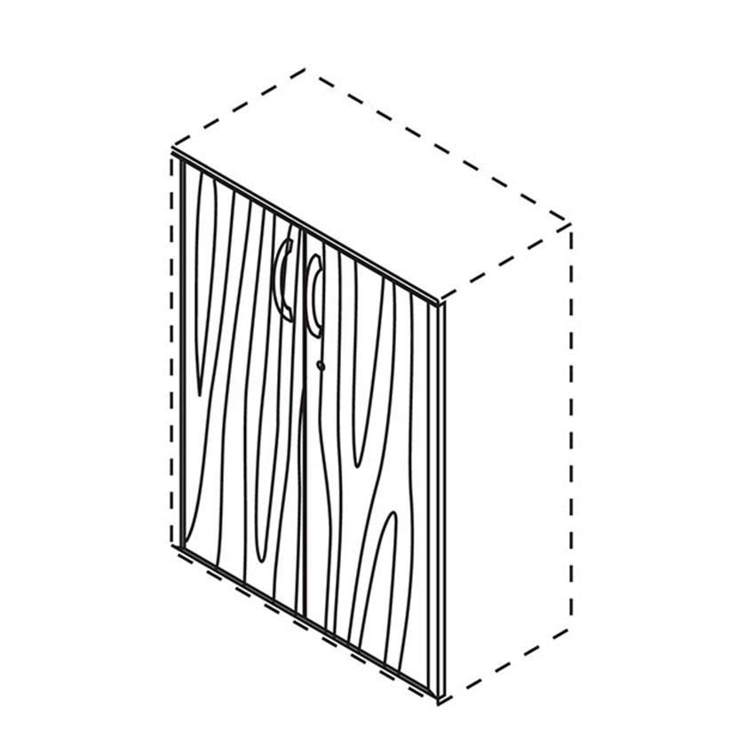 |オプション|XF 両開き木目扉XS-F105A-W ホワイトメープル